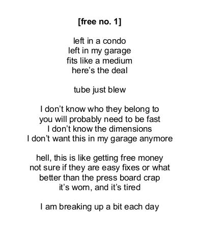How to write a free choice poem