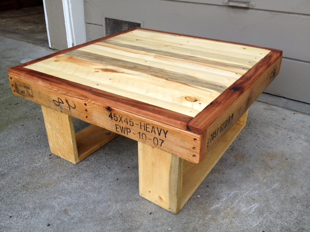 custom request table made from reclaimed pallets (2011). Dimensions ...